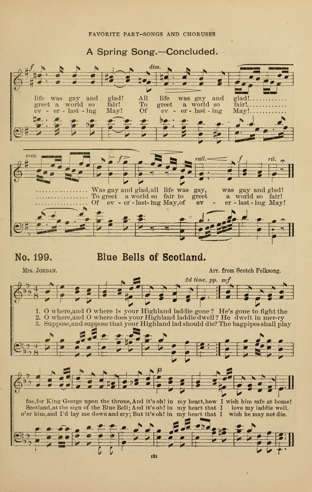 The Assembly Hymn and Song Collection: designed for use in chapel, assembly, convocation, or general exercises of schools, normals, colleges and universities. (3rd ed.) page 181