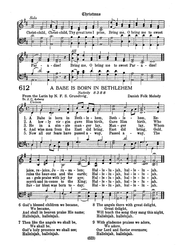 American Lutheran Hymnal page 731