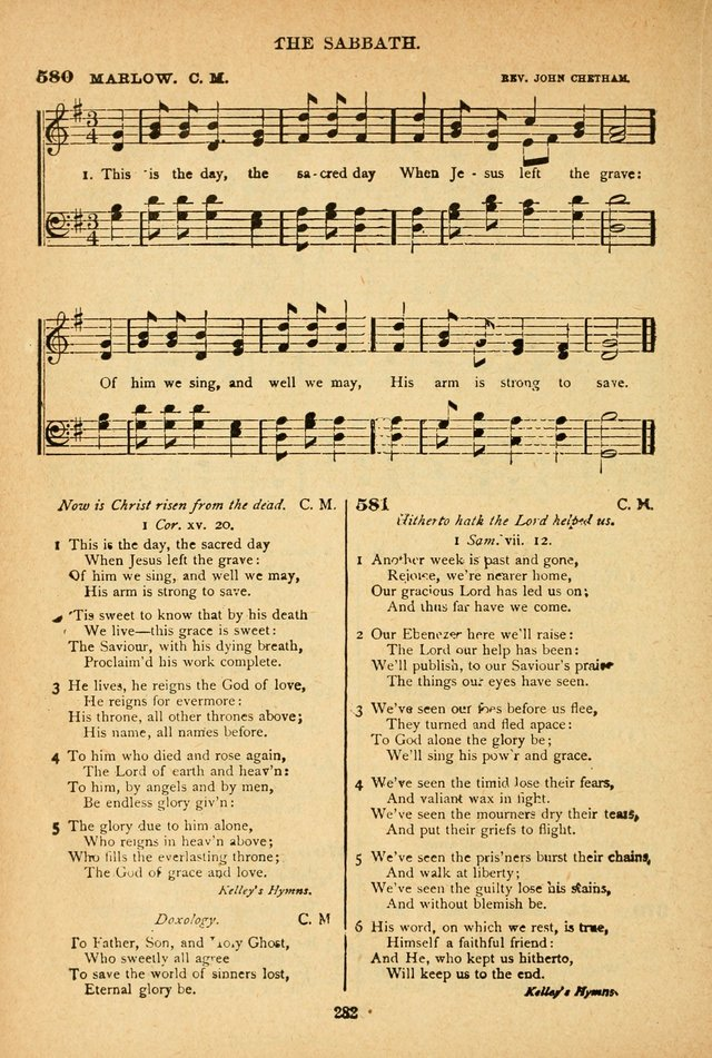 The African Methodist Episcopal Hymn and Tune Book: adapted to the doctrines and usages of the church (6th ed.) page 282