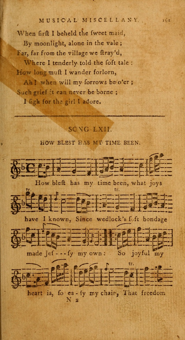 The American Musical Miscellany: a collection of the newest and most approved songs, set to music page 149