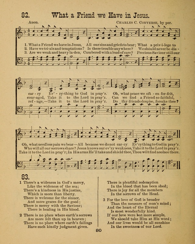 Augsburg Songs for Sunday Schools and other services 82  What a