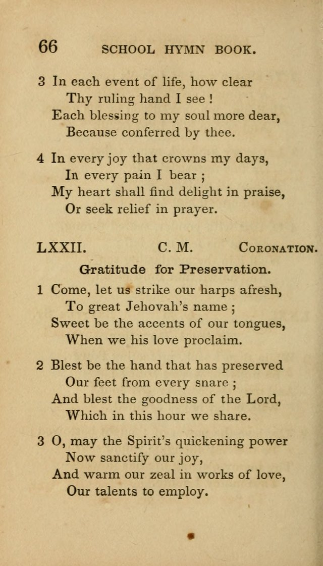 The American School Hymn Book page 66