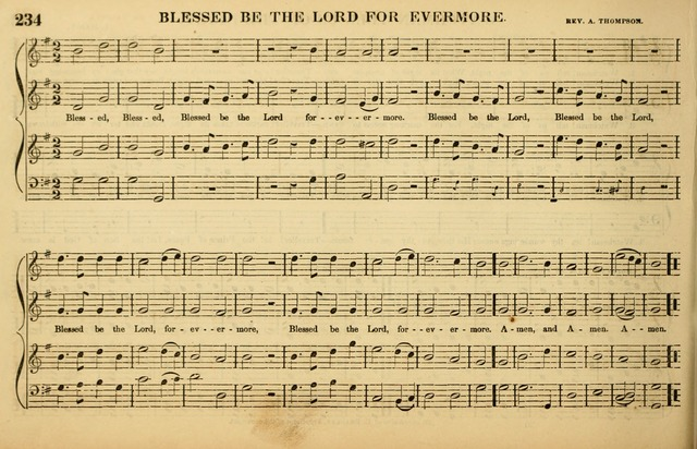The American Vocalist: a selection of tunes, anthems, sentences, and hymns, old and new: designed for the church, the vestry, or the parlor; adapted to every variety of metre in common use. (Rev. ed.) page 234