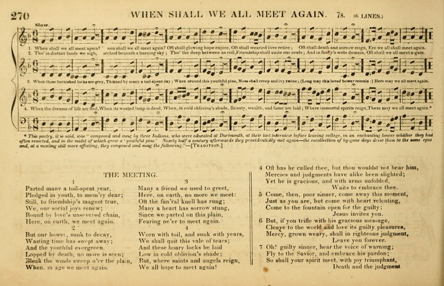 The American Vocalist: a selection of tunes, anthems, sentences, and hymns, old and new: designed for the church, the vestry, or the parlor; adapted to every variety of metre in common use. (Rev. ed.) page 270