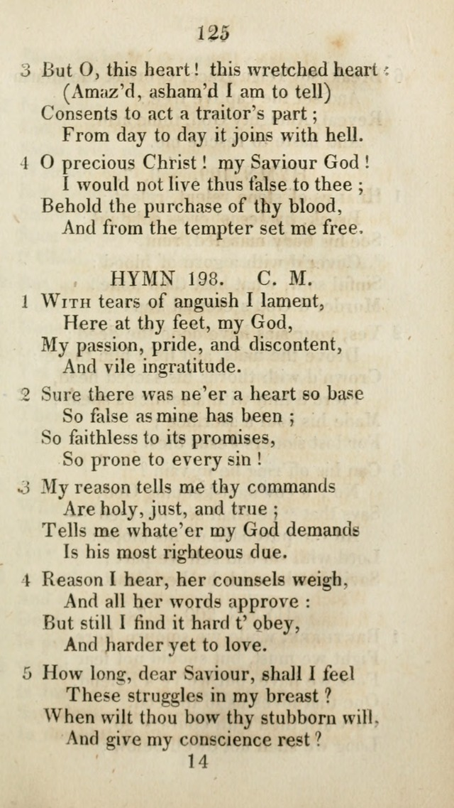 The Brick Church Hymns, Designed for the Use of Social Prayer Meetings and Families, selected from the most approved authors page 126