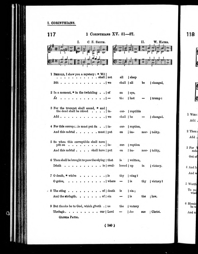 The Baptist Church Hymnal: chants and anthems with music page 143