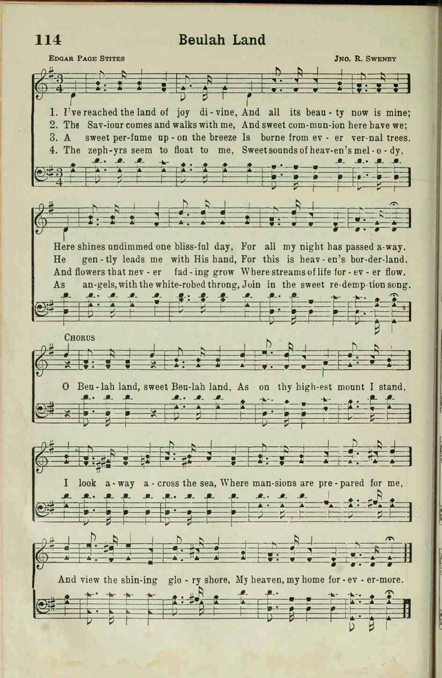The Broadman Hymnal page 112