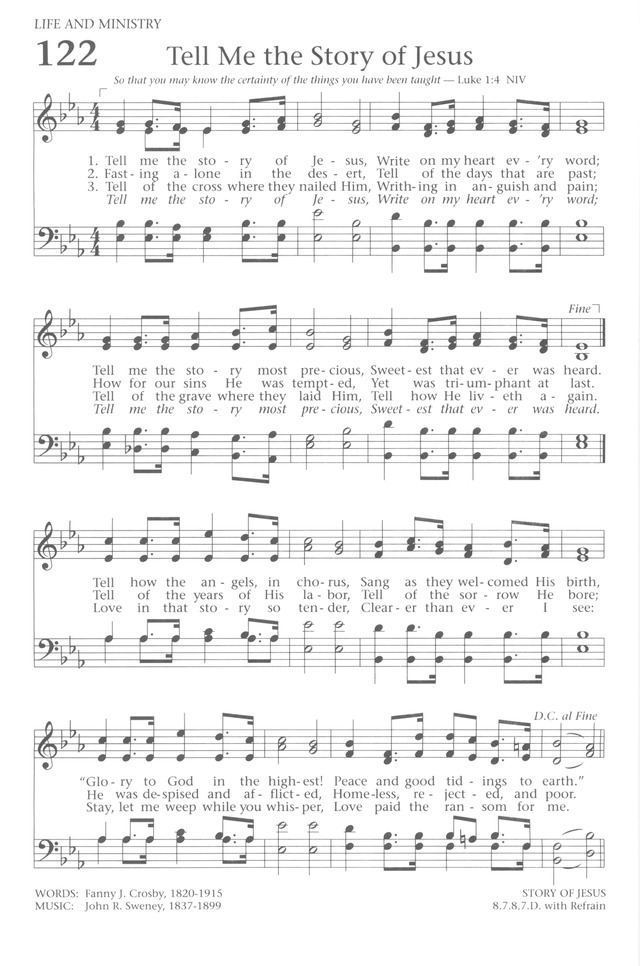 Baptist Hymnal 1991 page 108