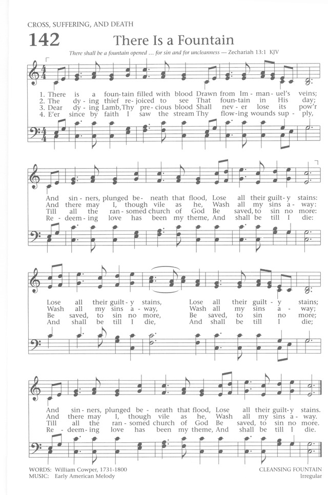 Baptist Hymnal 1991 page 126