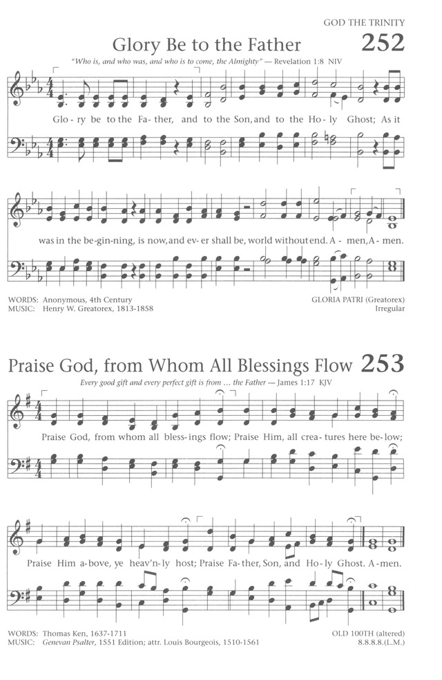 Lyric praise god from whom all blessings flow lyrics : Baptist Hymnal 1991 253. Praise God, from whom all blessings flow ...