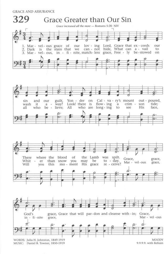 Baptist Hymnal 1991 329. Marvelous grace of our loving Lord ...