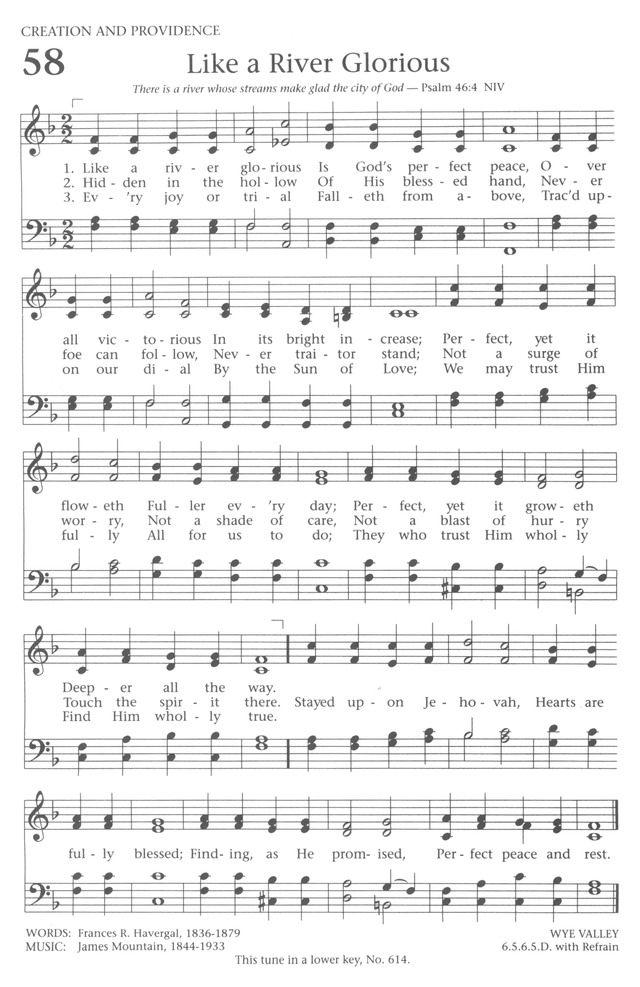 Baptist Hymnal 1991 page 52