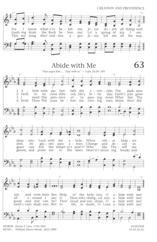 Baptist Hymnal 1991 page 57