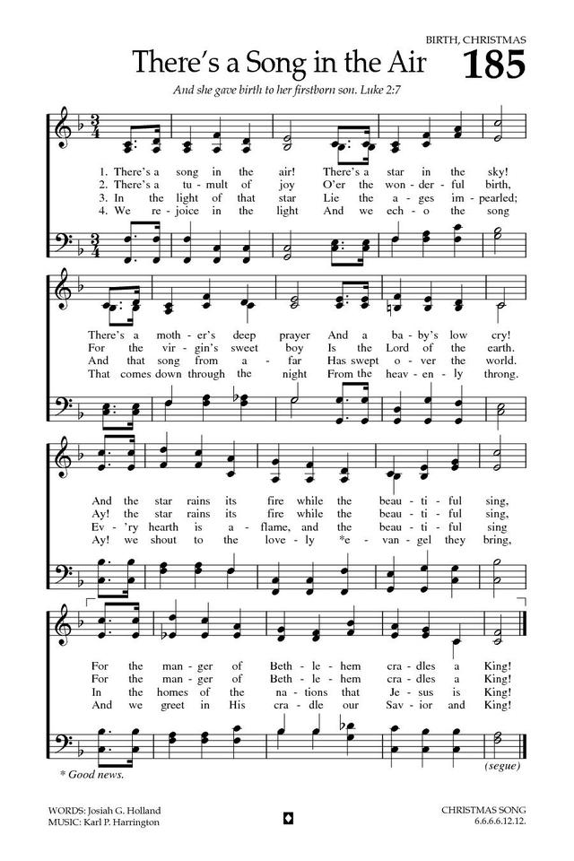 There's a Song in the Air | Hymnary.org