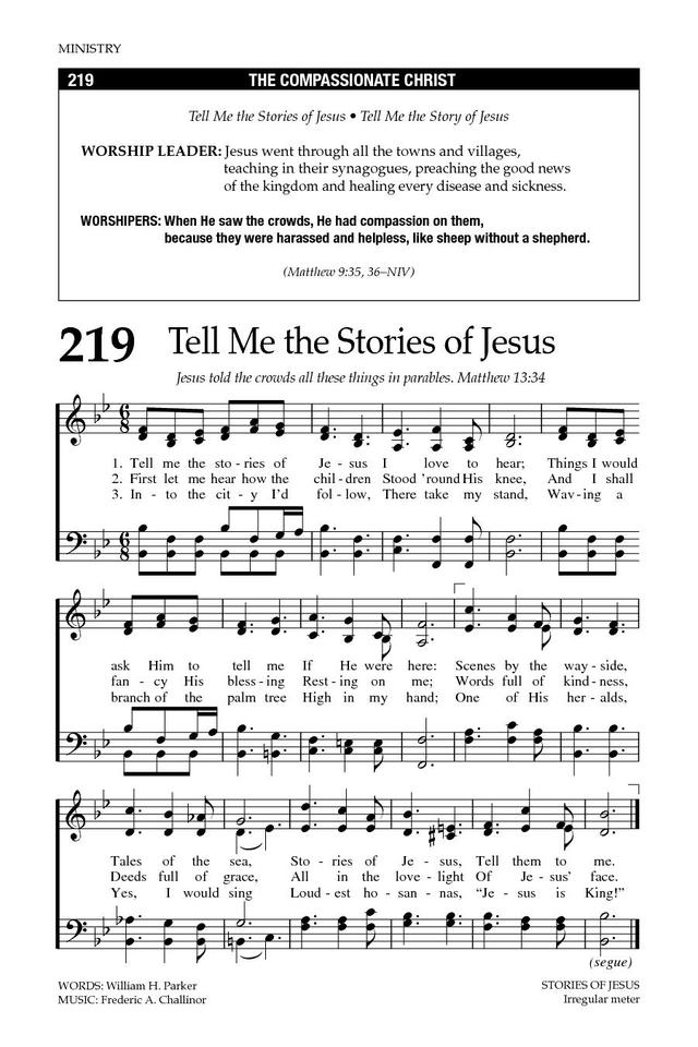 Tell Me The Stories Of Jesus Hymnary
