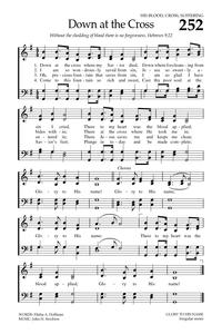 Down at the Cross | Hymnary org