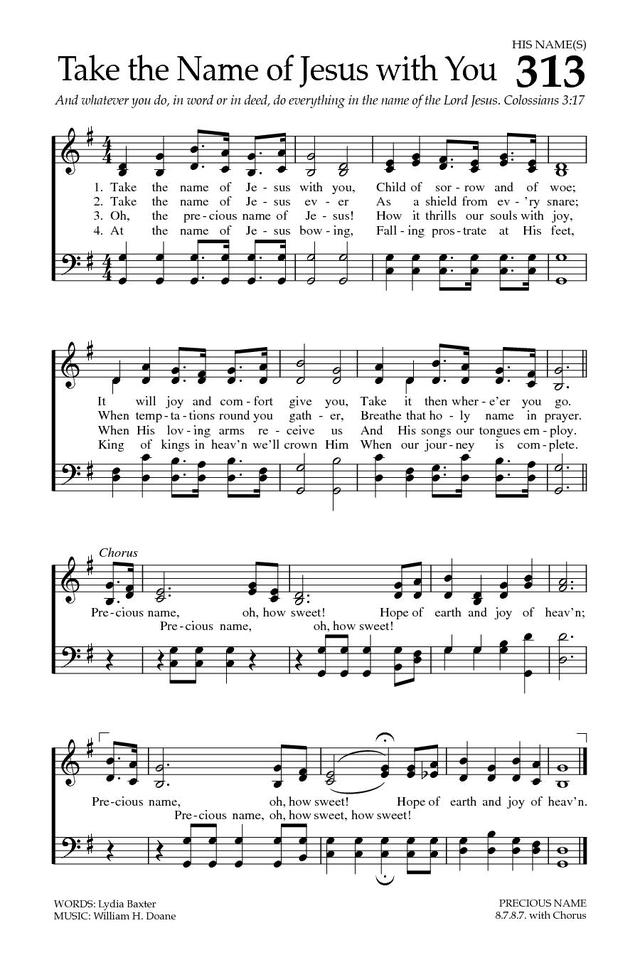 Take the Name of Jesus with You | Hymnary.org
