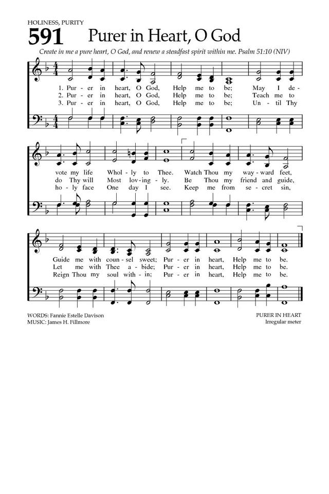 Purer in Heart, O God | Hymnary org