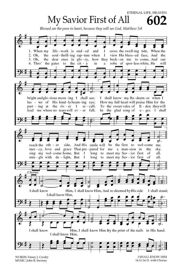 My Savior first of all | Hymnary.org