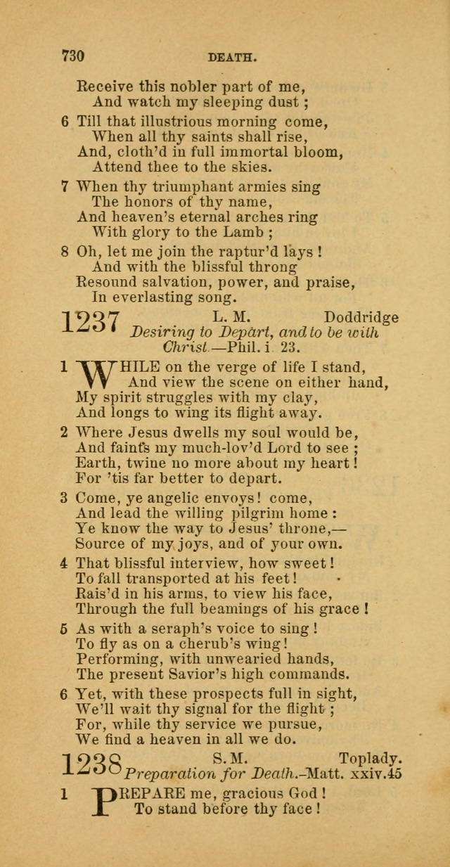 The Baptist Hymn Book: comprising a large and choice collection of psalms, hymns and spiritual songs, adapted to the faith and order of the Old School, or Primitive Baptists (2nd stereotype Ed.) page 734