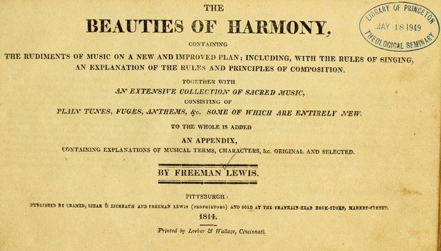 The beauties of harmony: containing the rudiments of music on a new and improved plan; including, with the rules of singing, an explanation of the rules and principles of composition ; together with a page 8