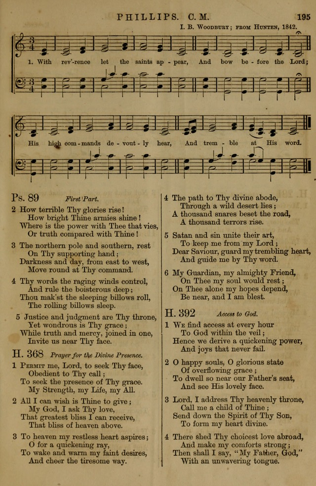 Book of Hymns and Tunes, comprising the psalms and hymns for the worship of God, approved by the general assembly of 1866, arranged with appropriate tunes... by authority of the assembly of 1873 page 193