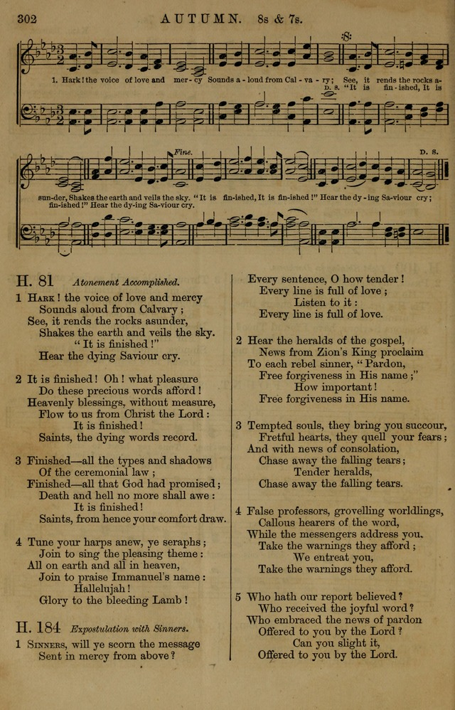 Book of Hymns and Tunes, comprising the psalms and hymns for the worship of God, approved by the general assembly of 1866, arranged with appropriate tunes... by authority of the assembly of 1873 page 300