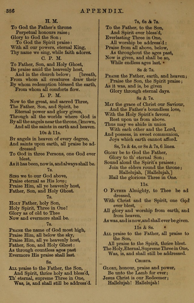 Book of Hymns and Tunes, comprising the psalms and hymns for the worship of God, approved by the general assembly of 1866, arranged with appropriate tunes... by authority of the assembly of 1873 page 384