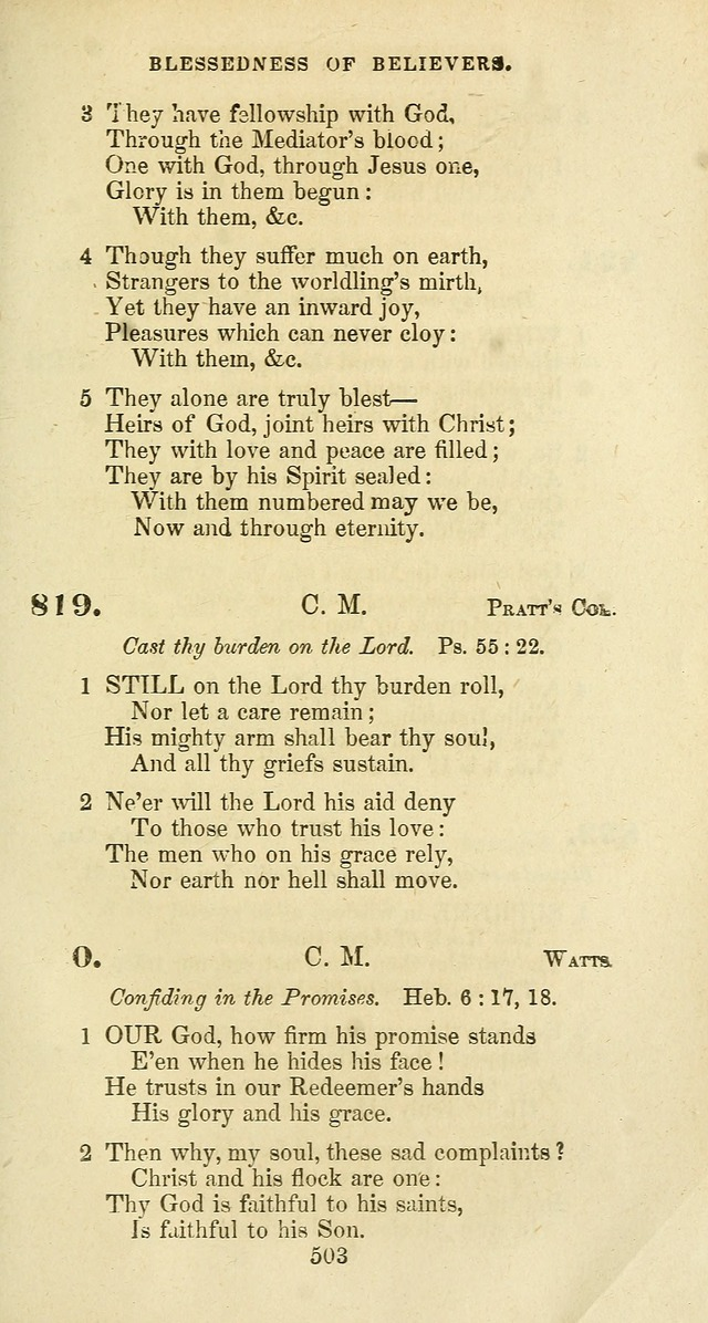 The Baptist Psalmody: a selection of hymns for the worship of God page 503
