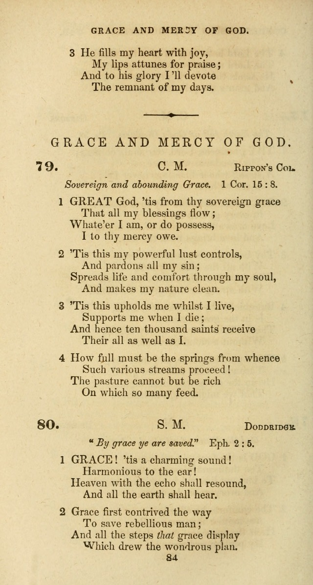 The Baptist Psalmody: a selection of hymns for the worship of God page 84