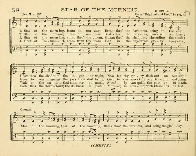 Book of Praise for the Sunday School: with hymns and tunes appropriate for the prayer meeting and the home circle page 61