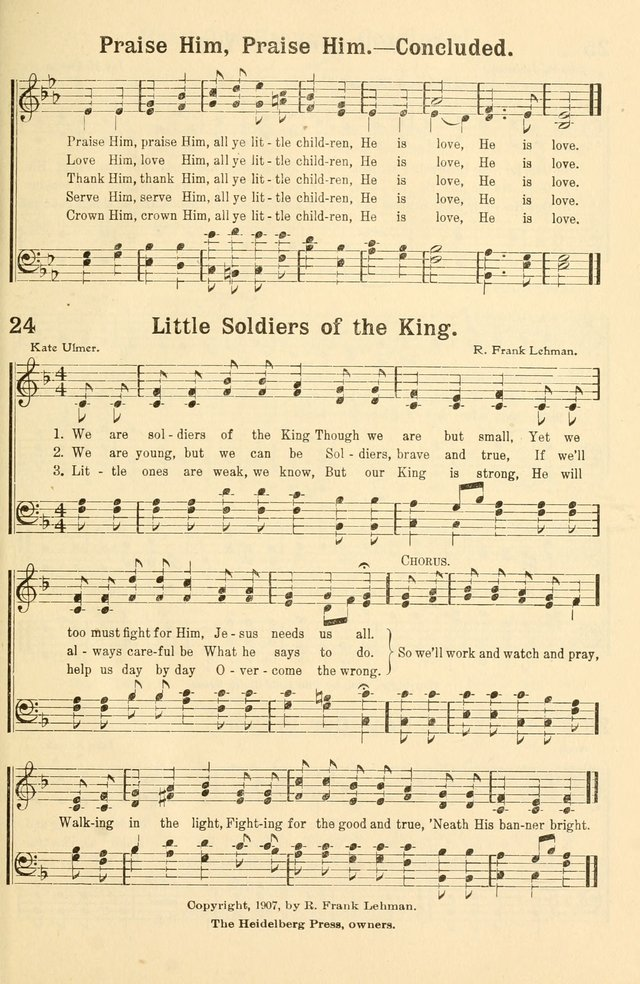 Beginner and Primary Songs for use in Sunday School and the Home page 30
