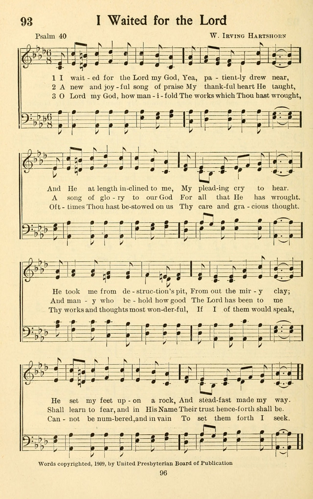 Bible Songs: a selection of psalms set to music, for use in sabbath