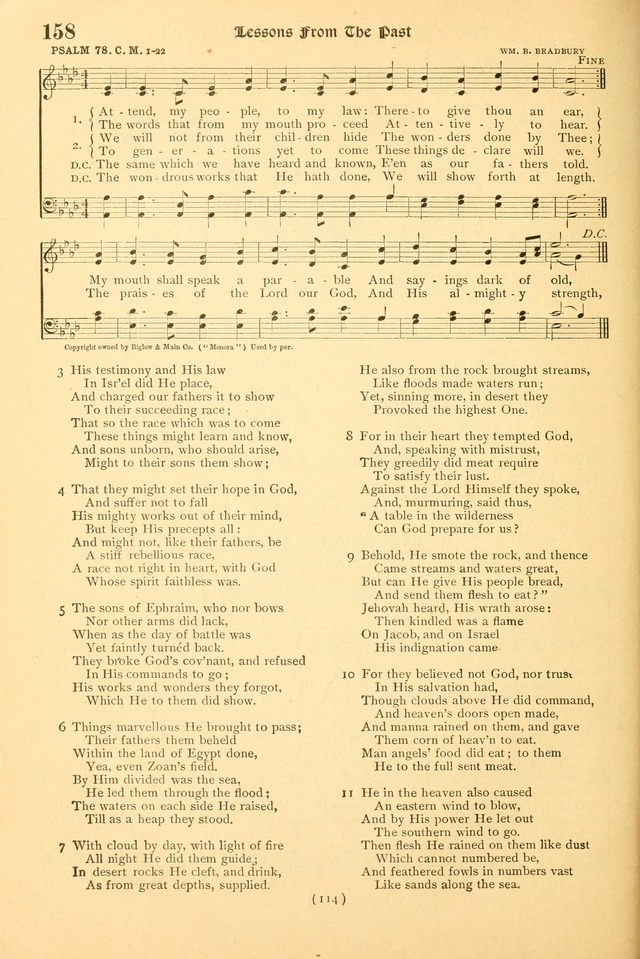 Bible Songs: a collection of psalms set to music for use in church and evangelistic services, prayer meetings, Sabbath schools, young people