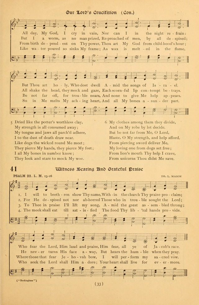 Bible Songs: a collection of psalms set to music for use in