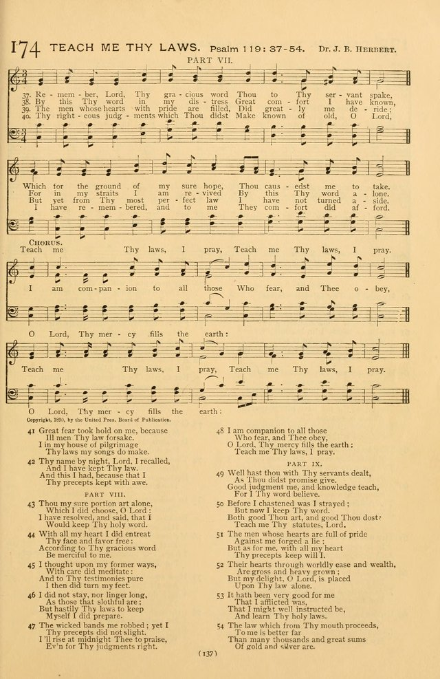 Bible Songs: consisting of selections from the Psalms set to music suitable for Sabbath Schools, prayer meetings, etc. page 137