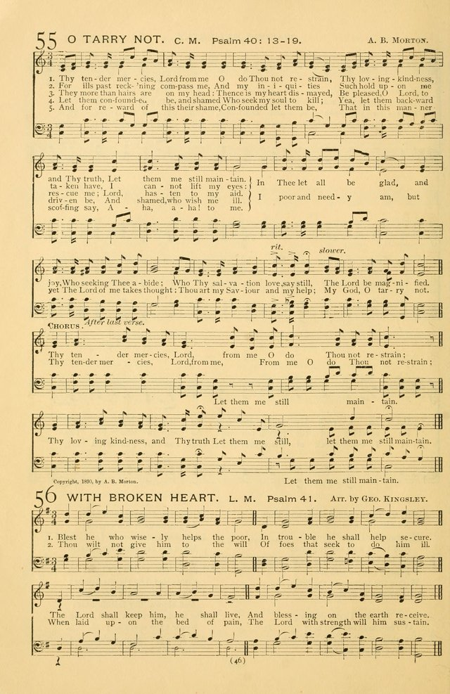 Bible Songs: consisting of selections from the Psalms set to music suitable for Sabbath Schools, prayer meetings, etc. page 46