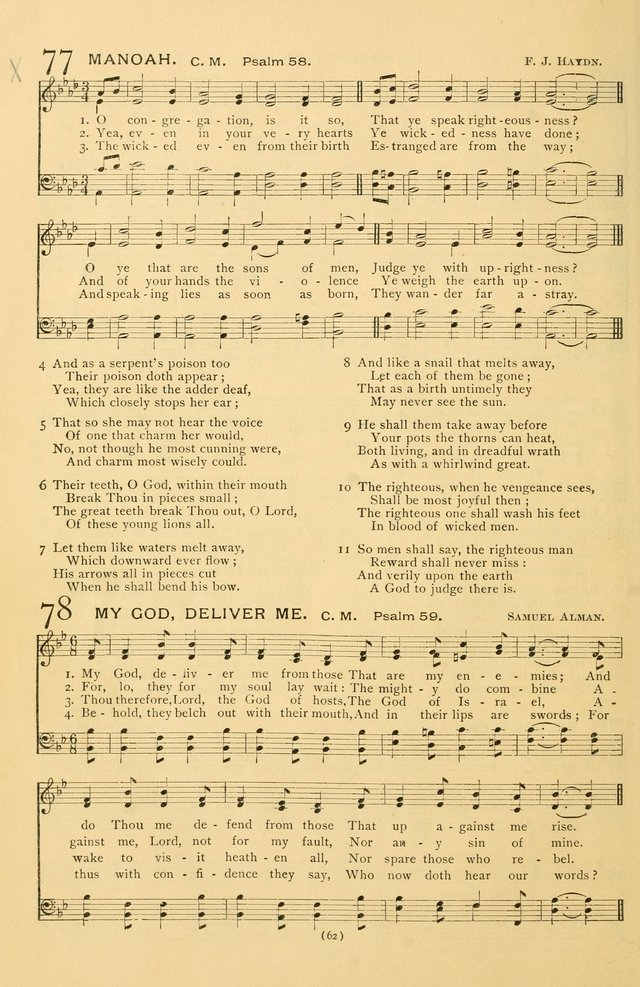 Bible Songs: consisting of selections from the Psalms set to music suitable for Sabbath Schools, prayer meetings, etc. page 62