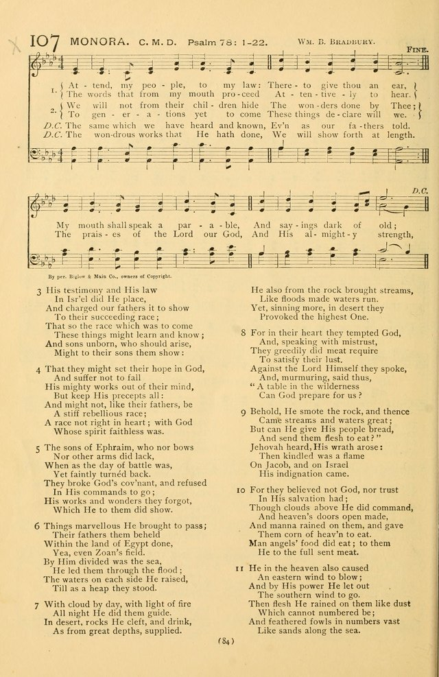 Bible Songs: consisting of selections from the Psalms set to music suitable for Sabbath Schools, prayer meetings, etc. page 84