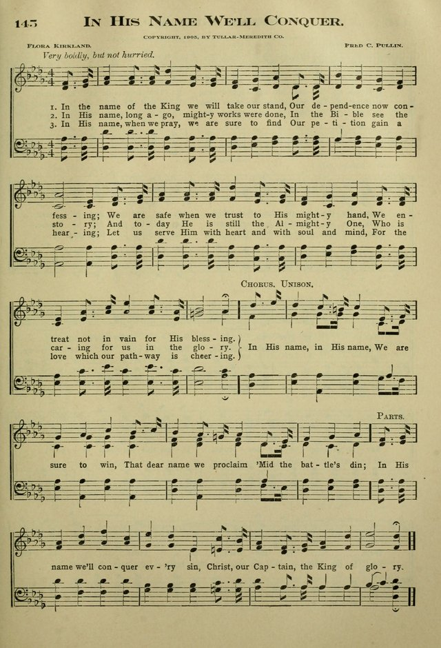 The Bible School Hymnal page 154
