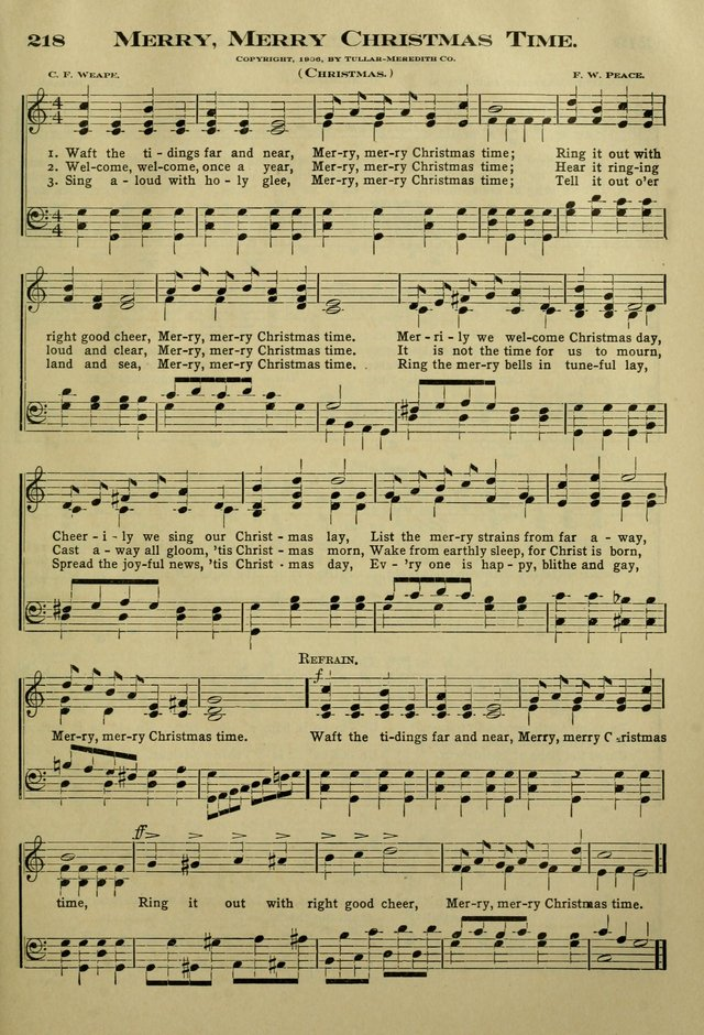The Bible School Hymnal page 208