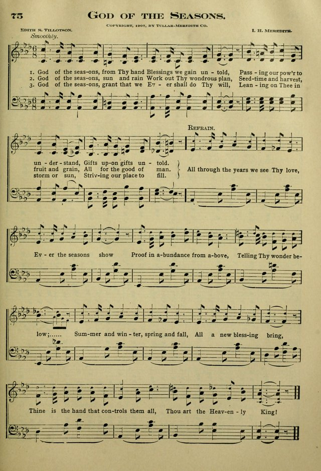 The Bible School Hymnal page 84