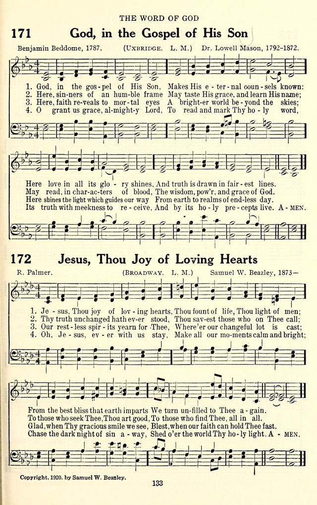 The Baptist Standard Hymnal with Responsive Readings 171. God, in ...