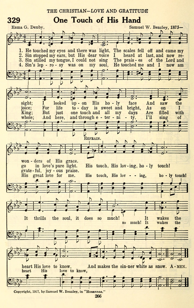 All Music Chords one sweet day sheet music : One touch of his hand | Hymnary.org