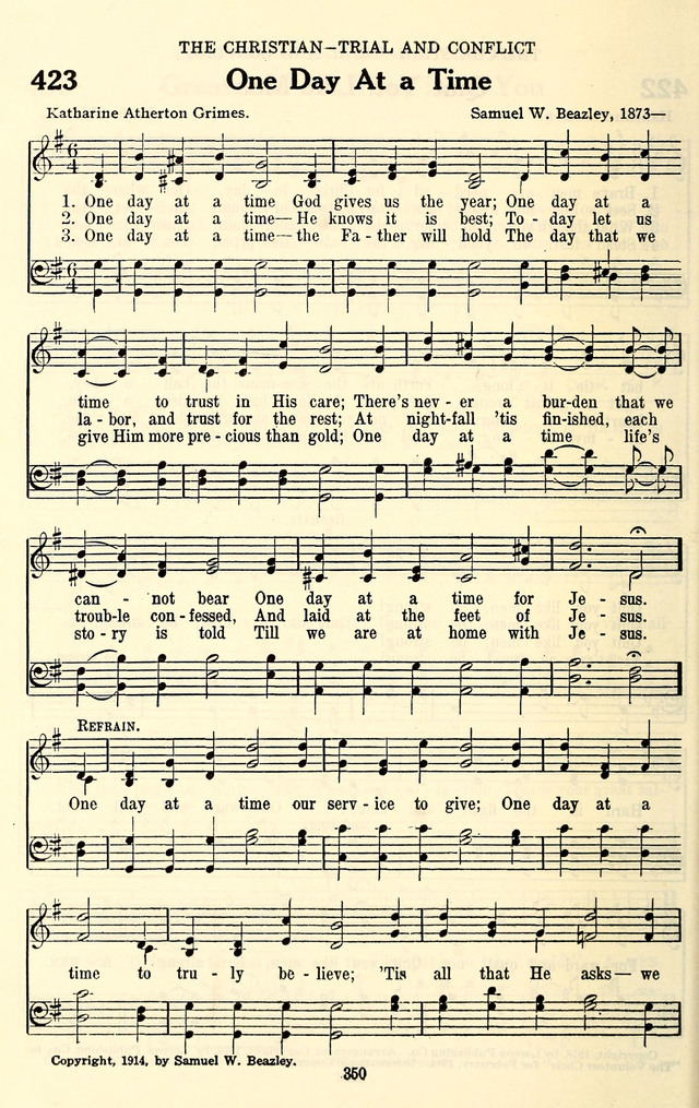 The Baptist Standard Hymnal: with responsive readings: a new book for all services page 342