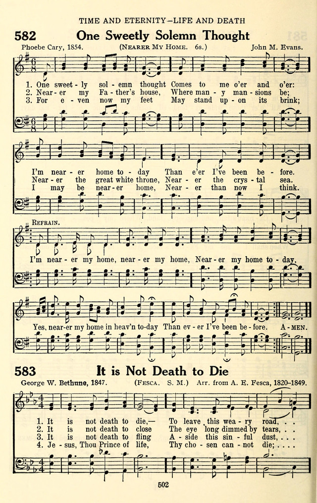 All Music Chords one sweet day sheet music : NEARER MY HOME - Hymnary.org
