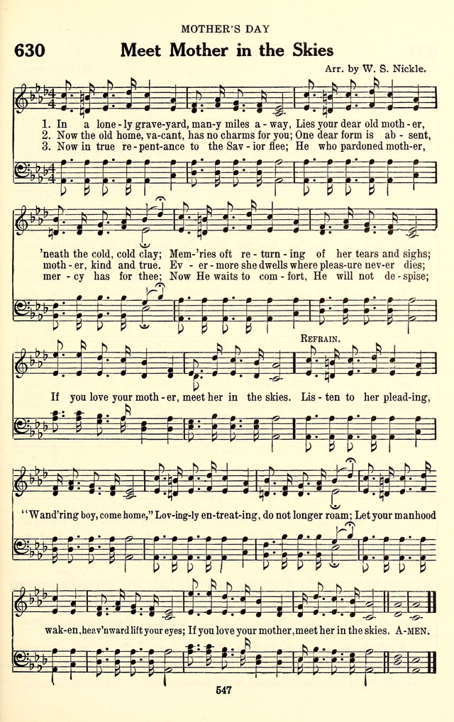 The Baptist Standard Hymnal: with responsive readings: a new book for all services page 539