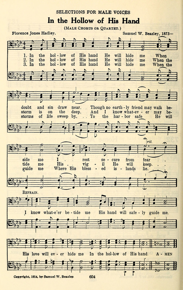 The Baptist Standard Hymnal: with responsive readings: a new book for all services page 596