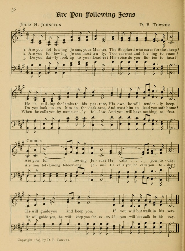 Bible Study Songs: for junior societies, junior and primary Sunday schools page 36
