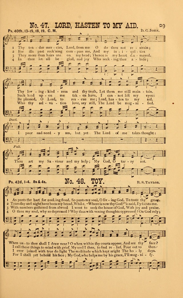 Bible Songs: consisting of selections from the psalms, set to music, suitable for Sabbath Schools, Prayer Meetings, etc. page 29